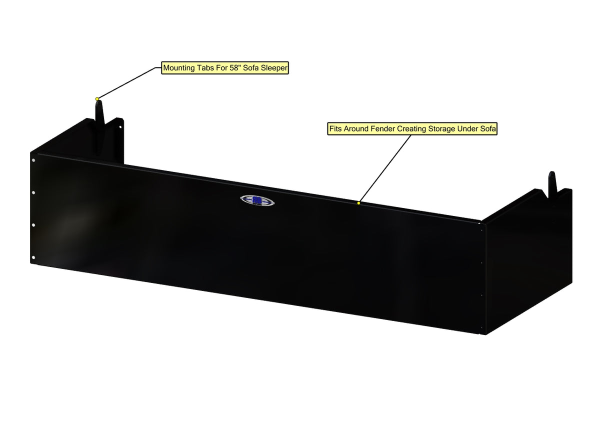"Sofa Storage Box, 58"", Deep"