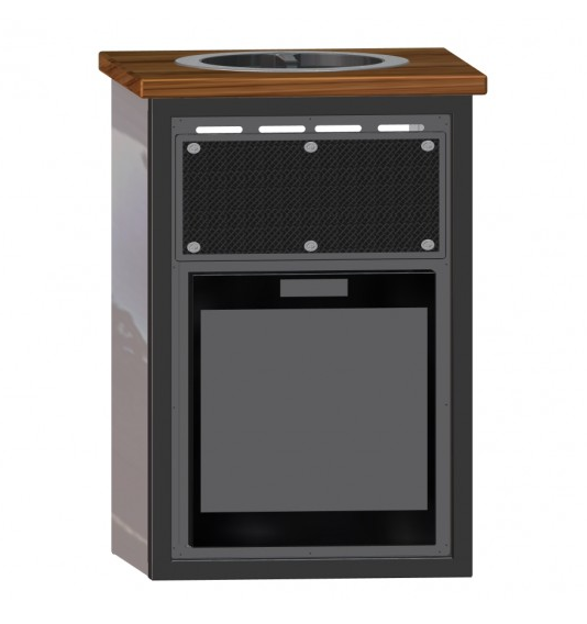 24 galley wooden counter top w norcold refrigerator for The galley sink price