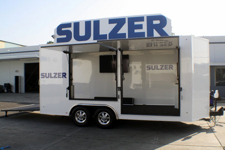 Sulzer Pumps 18' V-Nose Display Trailer