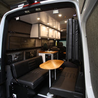 "58"" Rear Dinette/Bed Setup for 07+ Sprinter Vans - Black Vinyl"