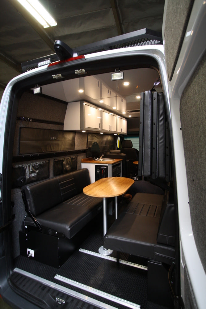 76 Quot Rear Dinette Bed Setup For 07 Sprinter Vans Black
