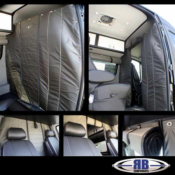 07+ Sprinter Van Fabric - Headliner Shelf Fabric Partition With 18