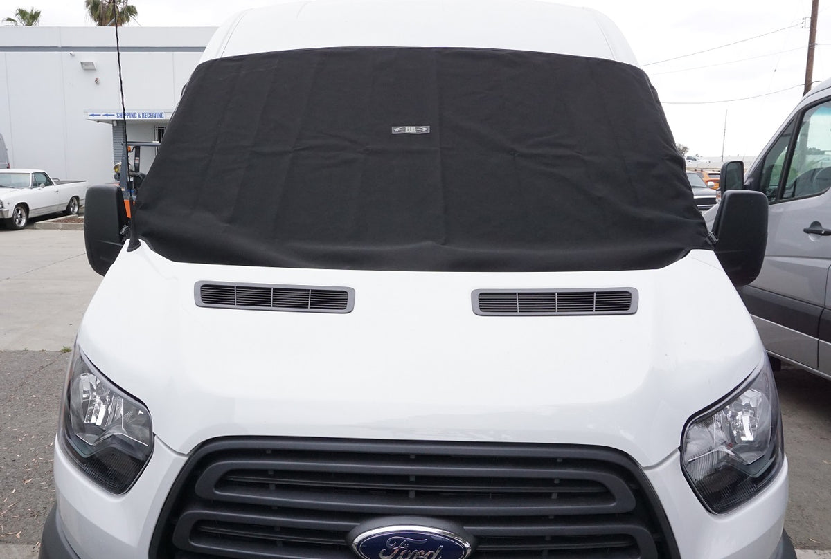 2014+ Ford Transit Fabric - Front Windhshield Shade, External