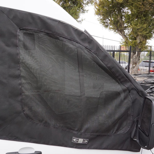 2014+ Ford Transit Fabric - Front Door Window Bug Net Set