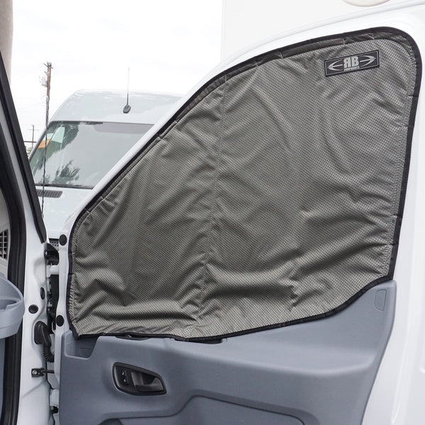 2014 + Transit Van Fabric - Magnetic Front Door Window Cover for Driver/Passenger Windows