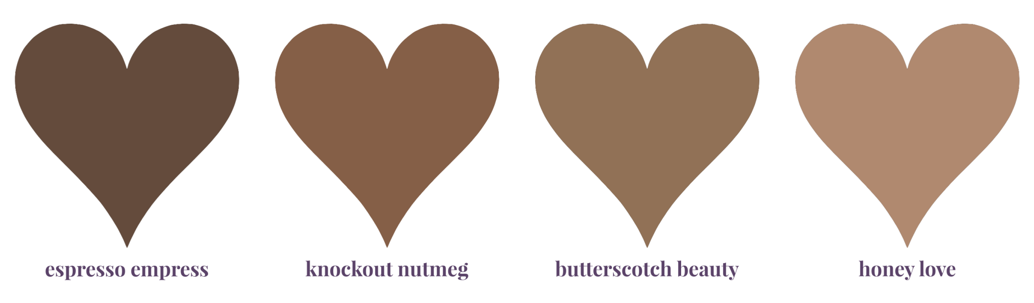 Four Shades of Brown Bras