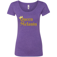 Queen Melanin Gold Print Ladies' Triblend Scoop