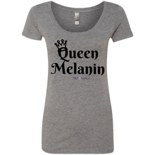 Queen Melanin Black Print Ladies' Triblend Scoop
