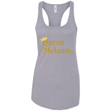 Queen Melanin Gold Print Ladies Racerback Tank