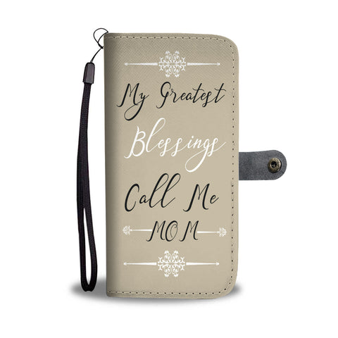 """My Greatest Blessings"" Wallet- Phone Case - The Cutest Little Things"