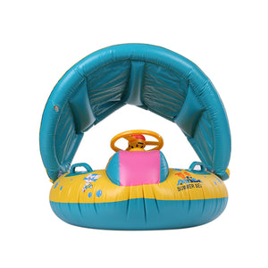 Baby Swim Boat With Adjustable Shade - The Cutest Little Things