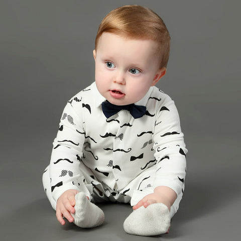 Newborn Bow Tie Gentleman's Romper - The Cutest Little Things