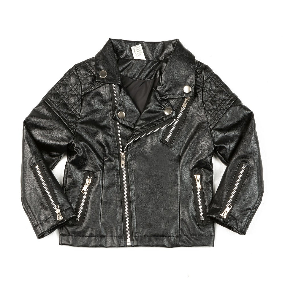 Biker Babe Leather Jacket - The Cutest Little Things