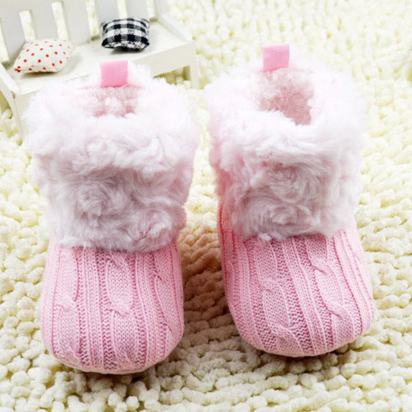 The Cutest Little Fuzzy Knit Boots - The Cutest Little Things