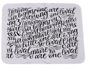 The Cutest Little Baby Love Cursive Swaddle - The Cutest Little Things