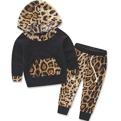 Leopard Hooded Tracksuit - The Cutest Little Things