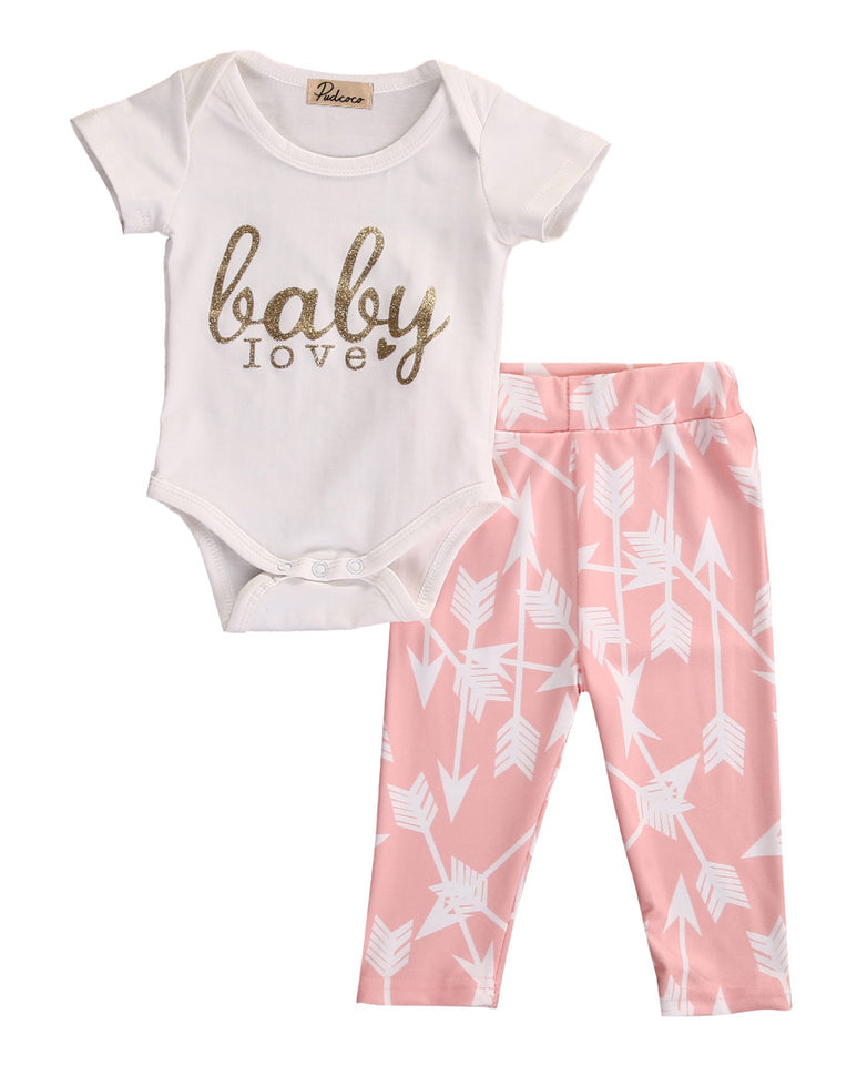 Golden Soft Pink Baby Love - The Cutest Little Things