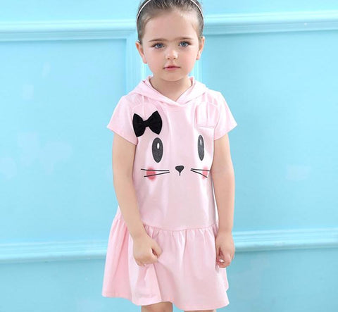 The Cutest Little Cartoon Cat Dress - The Cutest Little Things