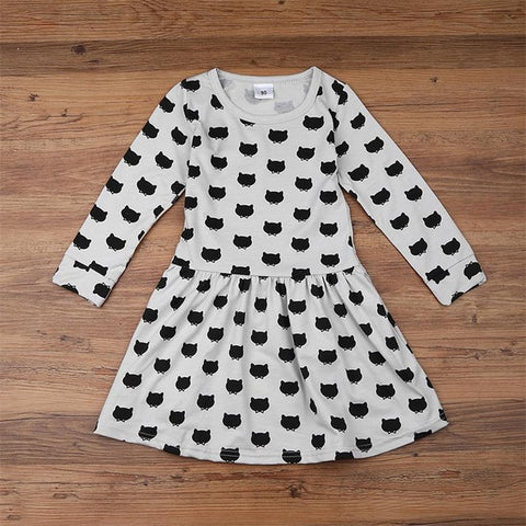 The Cutest Little Black Stamp Dress - The Cutest Little Things