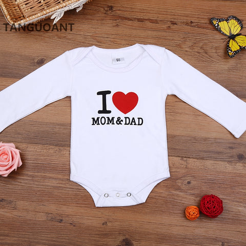 Mom & Dad Heart Onesie - The Cutest Little Things
