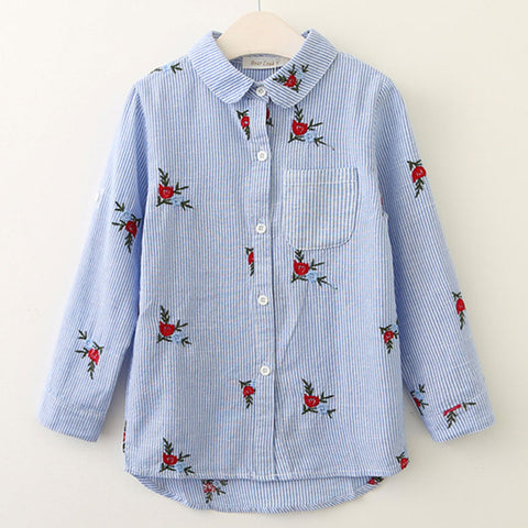 The Cutest Little Red Flower Blouse - The Cutest Little Things