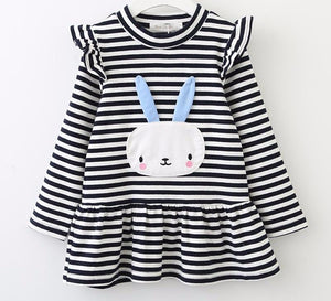 The Cutest Little Striped Rabbit Dress - The Cutest Little Things