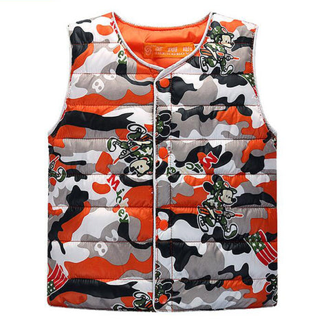 Padded Camo Vest - The Cutest Little Things