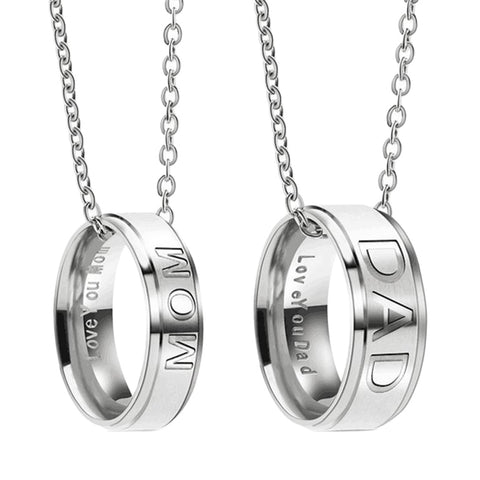 Dad /Mom Stainless Steel Necklaces - The Cutest Little Things