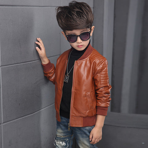 Cool Boy Leather Style Jacket - The Cutest Little Things