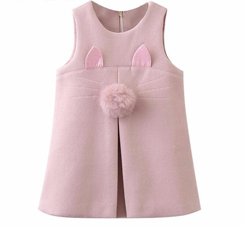 The Cutest Little Fur Pom Dress - The Cutest Little Things
