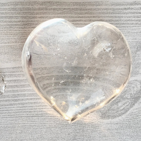 White Quartz Heart