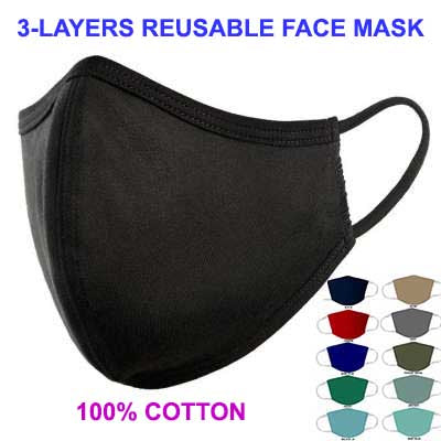 3-Layer Washable & Reusable Face Mask (Pack of 4)