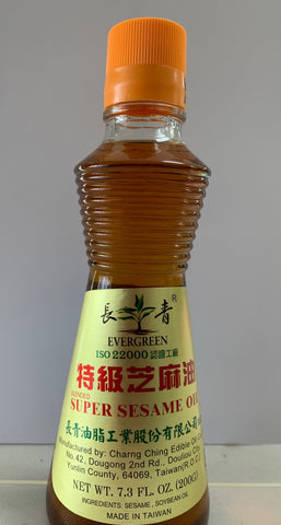 EVERGREEN Sesame Oil (Dau Me) Taiwan 7.3oz / 24225