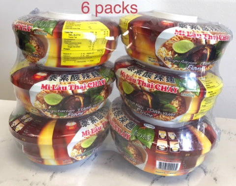 Tom Yum Noodle (Mì Lẩu Thái ) 6packs/15oz (ND-KB-MLTC)