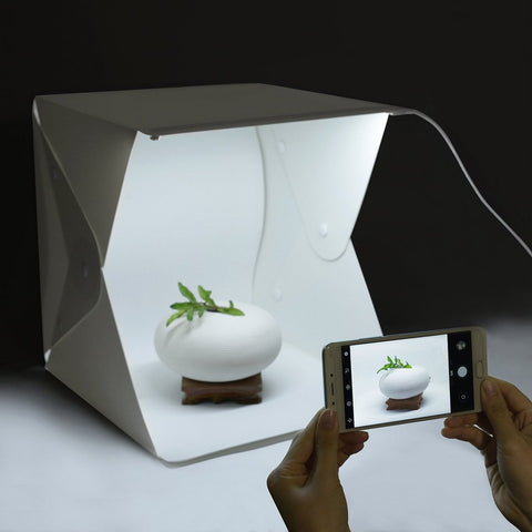 Dimmable Light Box - Portable Studio Tent w/ LED Strips