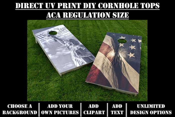 DIY Cornhole Direct UV Print Tops