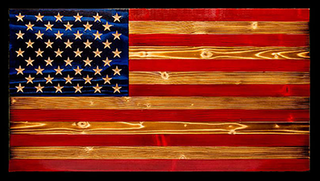 Rustic Wooden Flags -Add custom engraved script or logos- THAT Flag