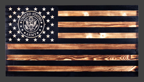 US Army Subdued Rustic Wood Flag