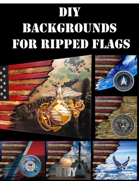 DIY Background for Ripped Flags