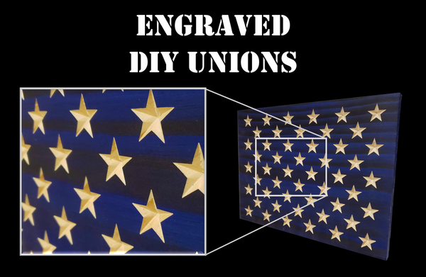 Engraved Unions for DIY Flag Builders