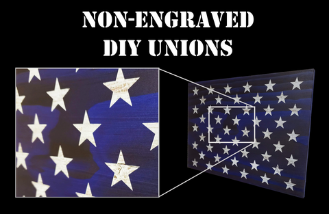 Non-Engraved Unions for DIY Flag Builders