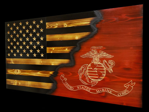 USMC Ripped in Pride Subdued Flag