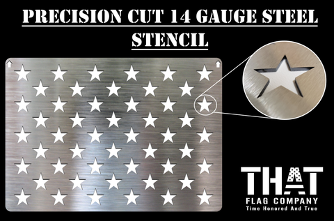 50 Star American Flag Metal Stencil (14 gauge steel)