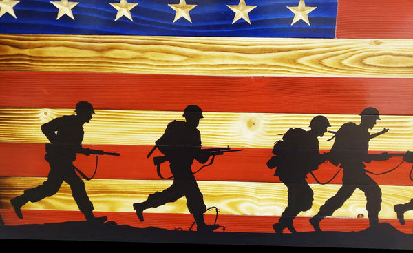 Soldier Silhouettes Flag