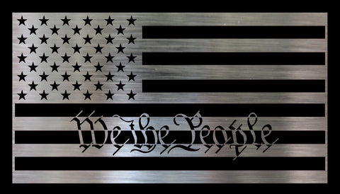 Metal DIY American Flag - We the People