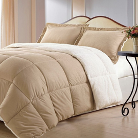 Borrego Comforter Set, Queen, Camel