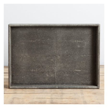 Gray and White Lacquer Stationery Box