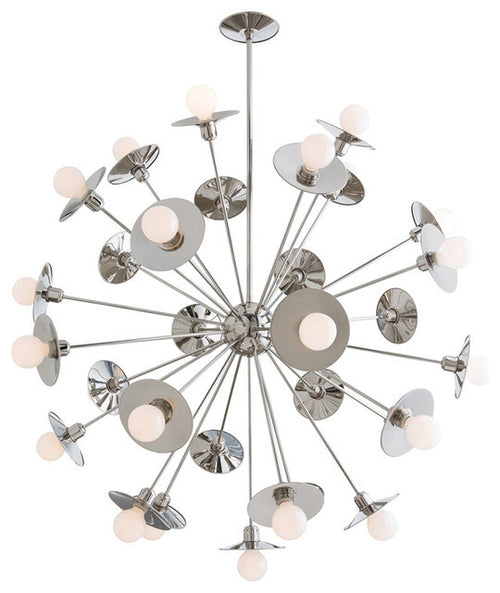 Keegan Polished Nickel Chandelier