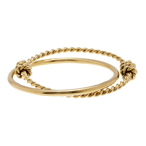 Knotted Twist Bangle Set