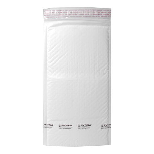 Sealed Air 49678 Jiffy Tuffguard Self-Seal Cushioned Mailers, 4x8 White, 25 per Carton